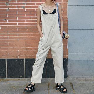 Straight Cut Jumper Pants Almond - One Size