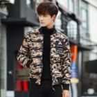 Camouflage Printed Padded Jacket
