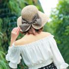 Ribbon Back Straw Hat