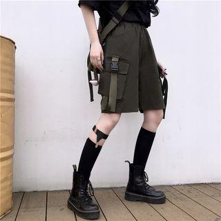 Buckled Tape Cargo Shorts