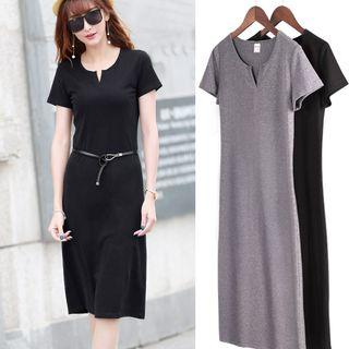 Short-sleeve Straight-fit Dress