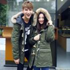 Couple Matching Hooded Toggle Parka