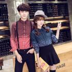 Couple Matching Check Long-sleeve Shirt