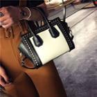 Studded Handbag White - One Size
