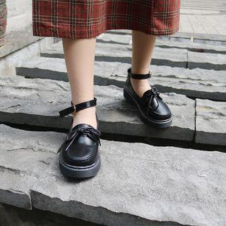 Ankle Strap Oxfords