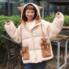 Cartoon Hooded Padded Jacket