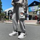 High-waist Applique Cargo Sweatpants