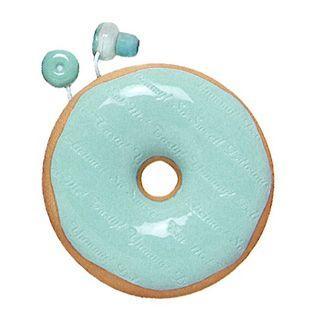 Zumreed Donuts Earphone (cord Wrap + Earphones) (mint Chocolate)