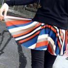 Inset Striped Skirt Leggings