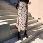 A-line Midi Leopard Skirt