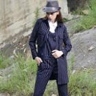 Long Sleeved Pinstriped Jacket