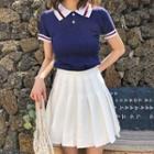Polo Shirt / Pleated Skirt
