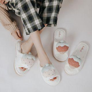 Strawberry Chenille Slippers