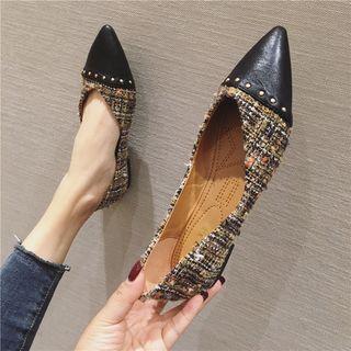 Tweed Pointy-toe Flats