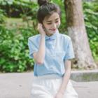 Peterpan Collar Short-sleeve Shirt
