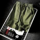 Drawstring Pocket-accent Cropped Pants