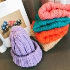 Alpaca Blend Rib Knit Beanie