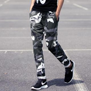 Camouflage Drawstring Pants