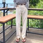 Tapered-cut Linen Pants