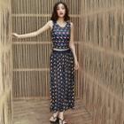 Set: Patterned Tankini + Maxi Skirt