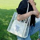 Set: Transparent Tote Bag + Printed Pouch