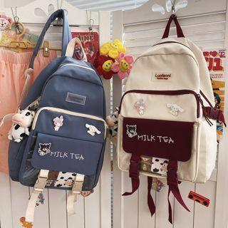 Pvc Pocket Nylon Backpack / Accessory / Set