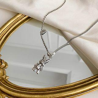 Alloy Rabbit Pendant Necklace As Shown In Figure - One Size