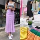 Colored Maxi Mermaid Skirt