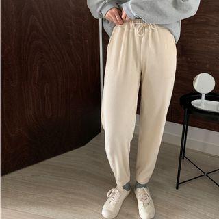 High-waist Corduroy Pants Pants - One Size