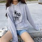 Print Hooded Sweatshirt