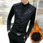 Embroidery Slim-fit Shirt