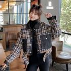 Tweed Cropped Buttoned Jacket