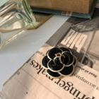 Acrylic Corsage Brooch Black - One Size