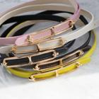 Colored Genuine-leather Thin Belt