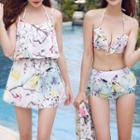 Set: Printed Bikini + Dress