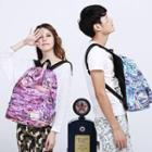 Printed Canvas Couple Backpack