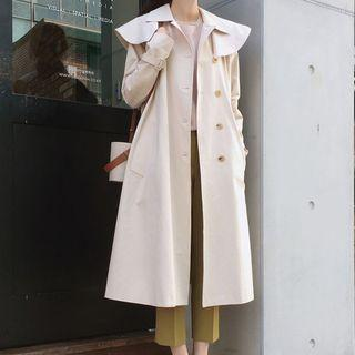 Double Breasted Trench Coat Off-white - One Size