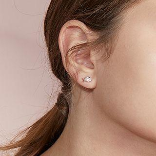 Set Of 3: Fish Stud Earring Set Of 3 Pairs - Gold & Silver & Rose Gold - One Size