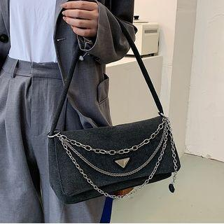 Flap Layered Chain Shoulder Bag
