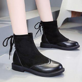 Tie Back Short Boots