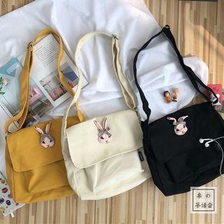 Bunny Appliqued Crossbody Messenger Bag