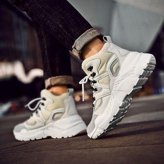 Fleece-lined High-top Platform Sneakers