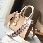 Square Tote With Print Strap