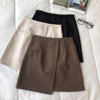 Asymmetrical High-waist A-line Skirt
