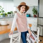 Lace-collar Long Sleeve Top