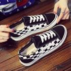 Canvas Check Sneakers
