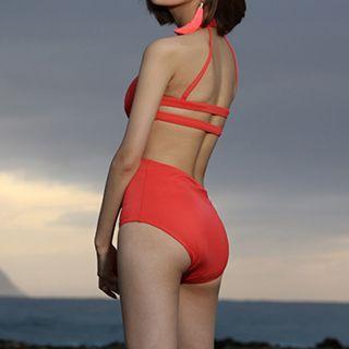 Plain Cutout Swimsuit