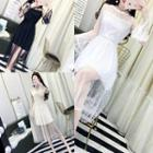 Lace Midi Cocktail Dress