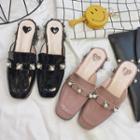 Embellished Slide Loafers
