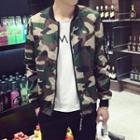 Camouflage-print Zip Jacket
